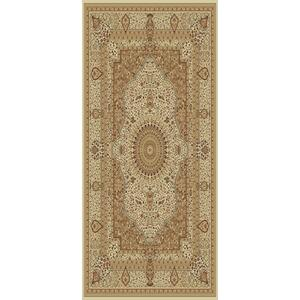 "Persian Design 1.5 Million Point Heatset Tabriz 3694 Area Rug by Rug Factory Plus - 5'4"" x 7'5"" / Rose"