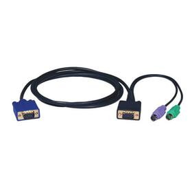PS/2 (3-in-1) Cable Kit for KVM Switch B004-008, 10-ft.