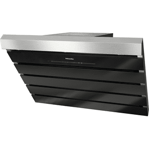 MieleDA 6798 W Shape - Wall ventilation hood with energy-efficient LED lighting and touch controls for simple operation.
