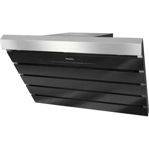 DA 6798 W Shape - Wall ventilation hood with energy-efficient LED lighting and touch controls for simple operation.