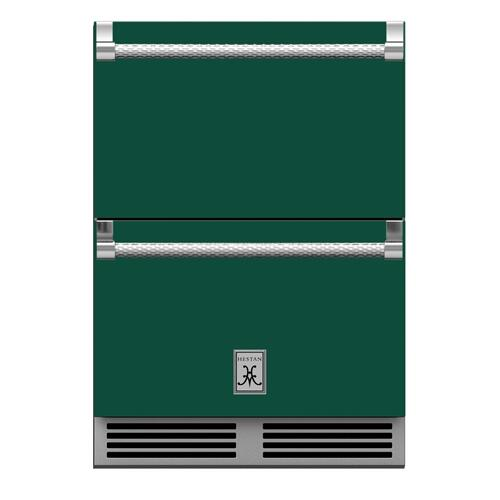 "24"" Hestan Outdoor Refrigerator Drawers - GRR Series - Grove"