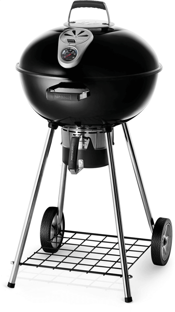 """Napoleon BBQ22"""" Charcoal Kettle Grill , Black , Charcoal"""