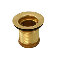 Polished Brass Deep Junior Duo Basket Strainer
