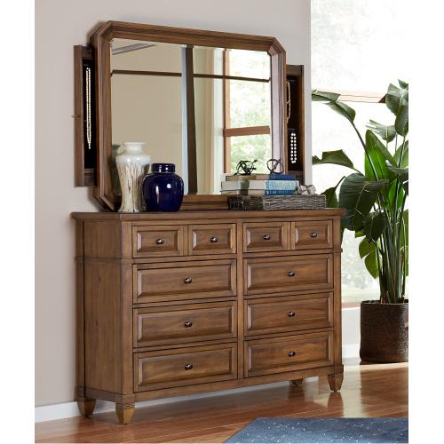 Mirror w/Jewelry Storage