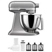 Exclusive Artisan(R) Series Stand Mixer & Fresh Prep Attachment Set - Contour Silver