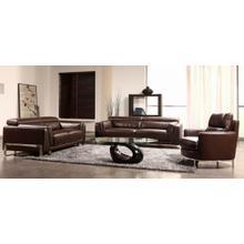 Divani Casa 3946 - Modern Faux Crocodile Leather Accent Sofa Set