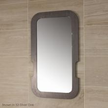 See Details - Wall- mount mirror in wooden frame.