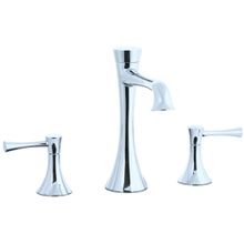Brookhaven - L-Spout 3 Hole Widespread Lavatory Faucet - Polished Chrome