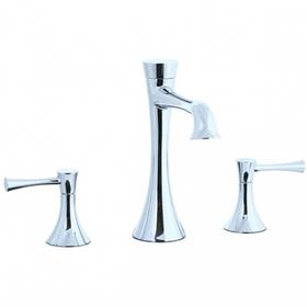 Brookhaven - L-Spout 3 Hole Widespread Lavatory Faucet - Polished Nickel