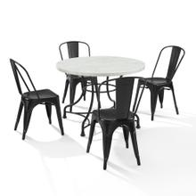 "MADELEINE 40"" 5PC DINING SET W/AMELIA CHAIRS"