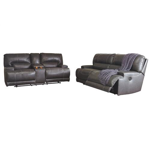McCaskill 2 Seat Reclining Power Sofa Gray
