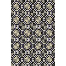 "Durable Flat Weave No Shedding Lifestyle 700 Area Rug by Rug Factory Plus - 7'6"" x 10'3"" / Navy"