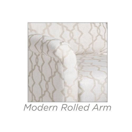 Casey Chair w/ Modern Rolled Arm
