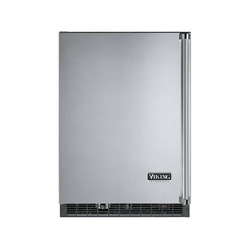 "Viking - Stainless Steel 24"" Wide Beverage Center with Ice Maker - VURI (Left Hinge Door)"