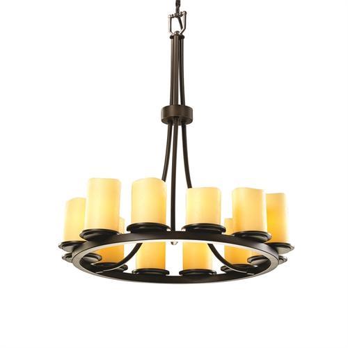 Dakota 12-Light Ring Chandelier (Tall)