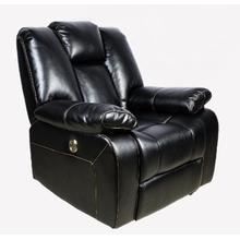 View Product - Black Leather Recliner