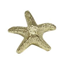 See Details - Solid brass starfish-shaped knob.