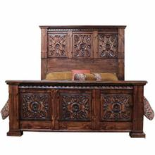 King Carved Ombre Fine Laquer Bed