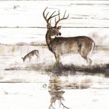 Rustic Misty Deer By Ruane Manning