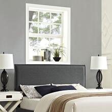 Camille Queen Upholstered Fabric Headboard in Gray