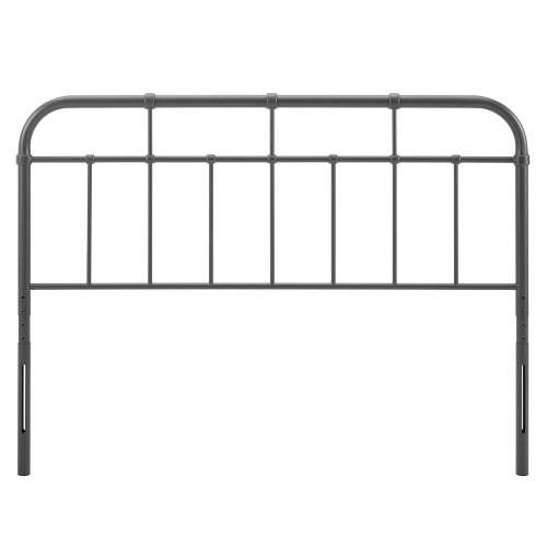 Alessia Queen Metal Headboard in Gray