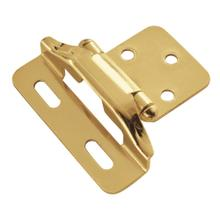 Semi-Concealed 1/4 In. Overlay Hinge (2-Pack)
