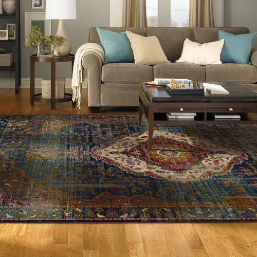 "Meraki Solace Peacock 2' 4""x7' 10"" Runner"