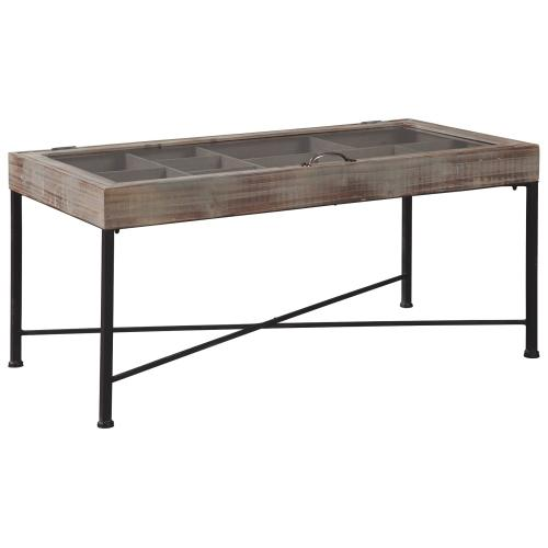 Gallery - Shellmond Coffee Table With Display Case