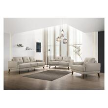Anzio Cream Leather Sofa, Loveseat & Chair, L7120