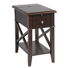 Baldwin 1-drawer Chairsider In Rich Cordovan