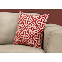 "PILLOW - 18""X 18"" / RED MOTIF DESIGN / 1PC"