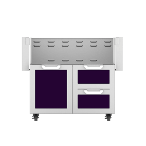 "36"" Hestan Outdoor Tower Cart with Door/Drawer Combo - GCR Series - Lush"