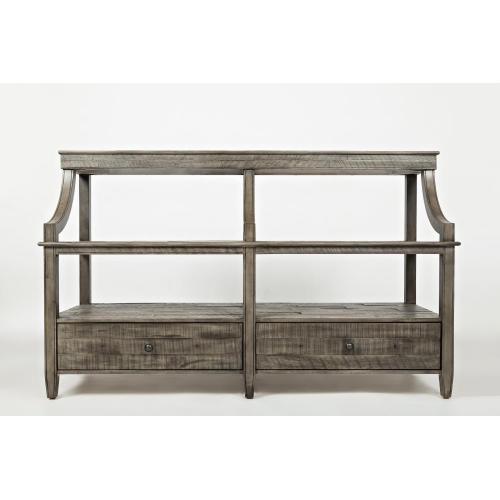 Tremblant Sofa Table- Rustic Platinum