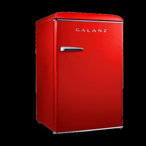 Galanz 4.4 Cu Ft Retro Single Door Refrigerator in Hot Rod Red