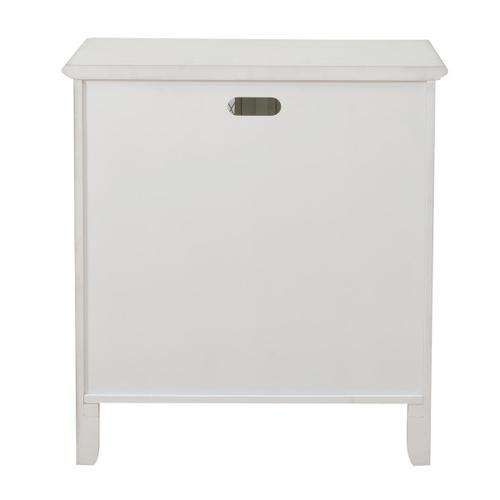 Two Door Mesh Front Chest in Farmhouse White