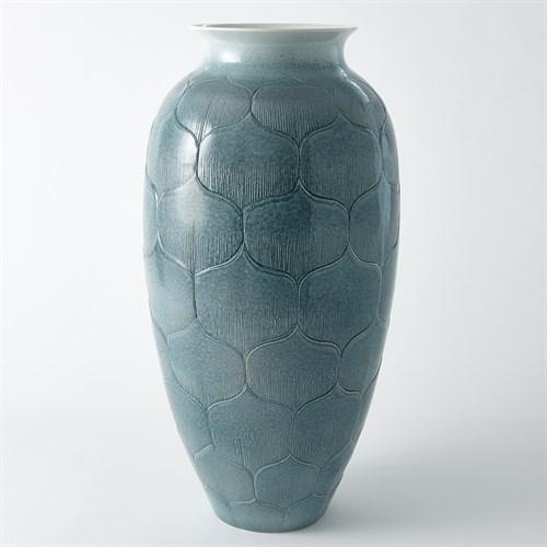 Lady Los Vase-Teal-Med