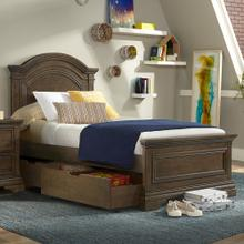 Product Image - Olivia Twin Bed  Rosewood Rosewood