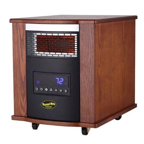 Sunheat - Thermal Wave by SUNHEAT Infrared Heater with Ultraviolet Air Purification - Modern Oak