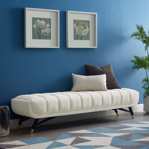 Adept Performance Velvet Bench in Ivory