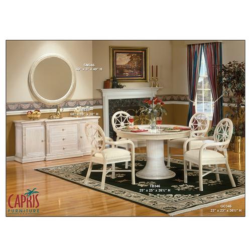 Capris Furniture - 346 dining GC