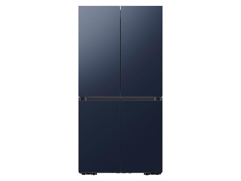 Samsung29 Cu. Ft. Smart Bespoke 4-Door Flex™ Refrigerator With Customizable Panel Colors In Navy Steel