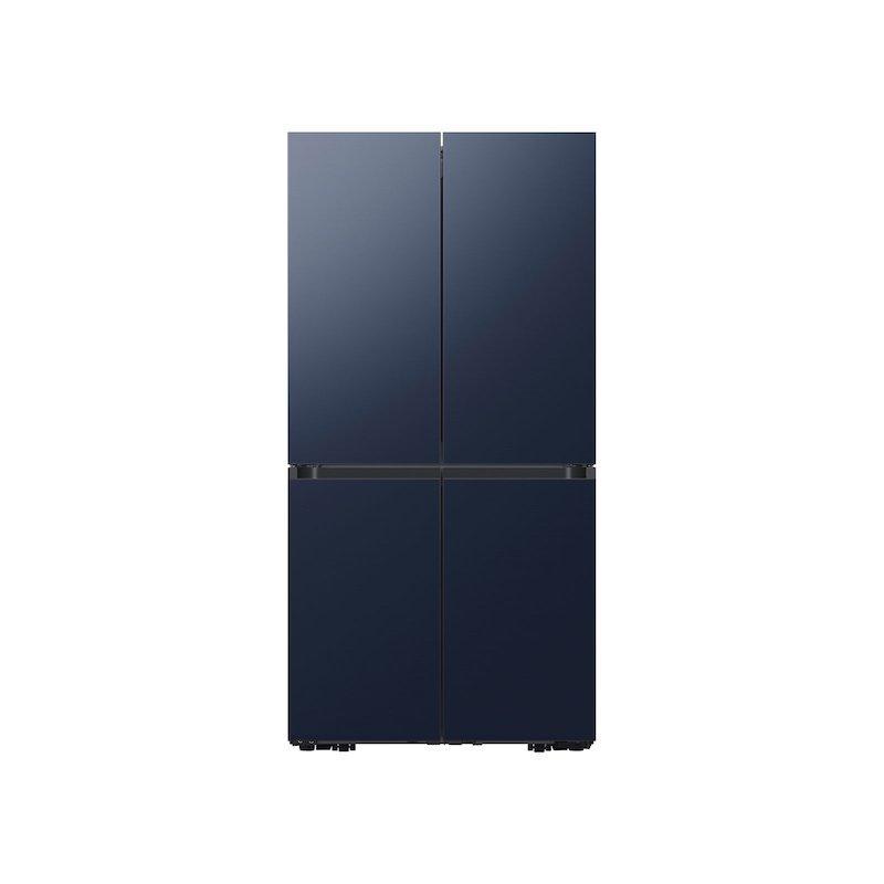 29 cu. ft. Smart BESPOKE 4-Door Flex™ Refrigerator with Customizable Panel Colors in Navy Steel