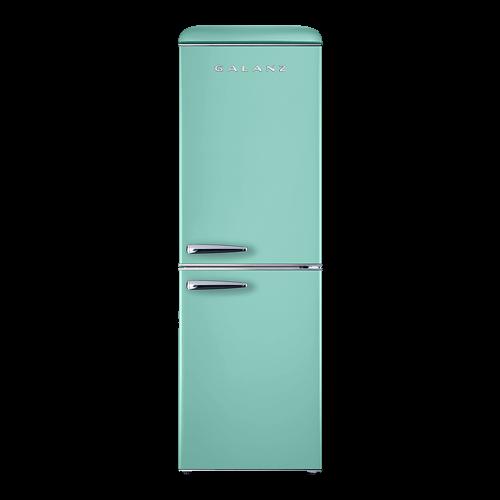 Galanz 7.4 Cu Ft Retro Bottom Mount Refrigerator in Surf Green