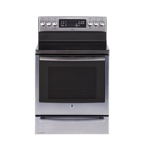"""GE Appliances Canada - GE Profile 30"""" Freestanding Self-Clean Electric Range with Baking Drawer Stainless Steel - PCB987YMFS"""