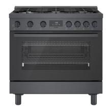 800 Series Dual Fuel Freestanding Range Black stainless steel HDS8645C