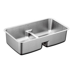"""1800 Series 29""""x18"""" stainless steel 18 gauge double bowl sink Product Image"""