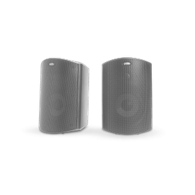 """ALL WEATHER OUTDOOR LOUDSPEAKERS WITH 5"""" DRIVERS AND 3/4"""" TWEETERS (PAIR) in Black"""