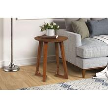 Double V-leg Round End Table