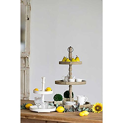 Gallery - Norline Wooden 2-Tiered Tray