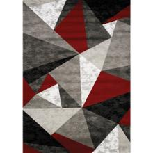 Platinum 3397 Grey Red White 3 x 5